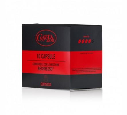 Капсулы Nespresso CAFFE POLI Espresso (10шт)